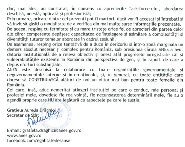 ANES, discriminared e gen in Romania, discriminare de gen