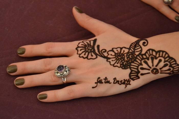 O vraja orientala henna art cu alina shamim - Modele de henna ...