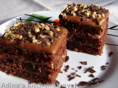 prajitura cu ciocolata si nuca
