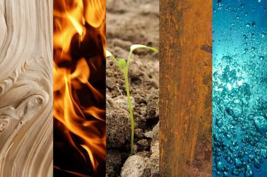 cele 5 elemente chinezesti, 5 elemente ale vietii