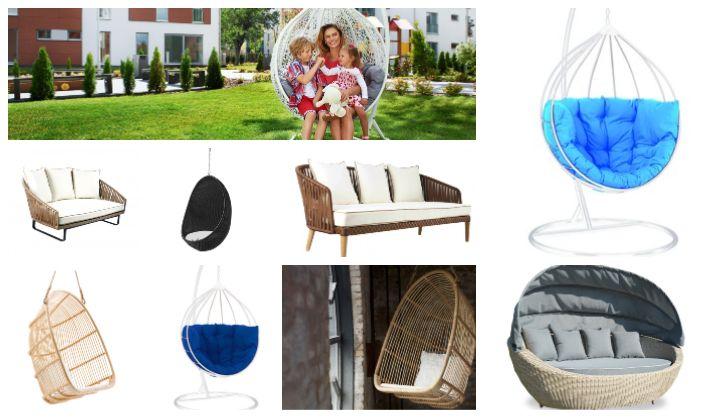 fotolii hamace și canapele de grădină impermeabile