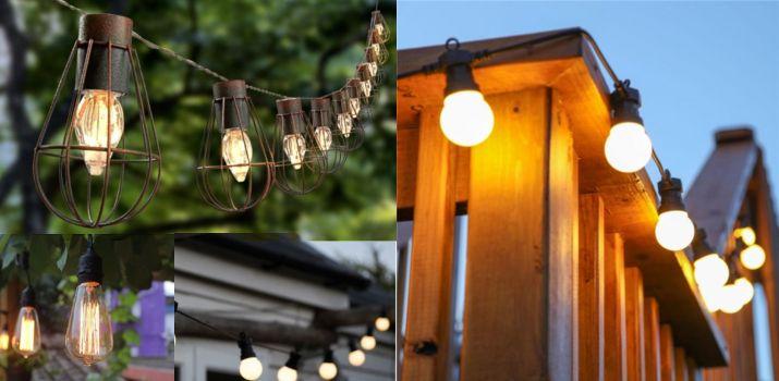 ghirlande luminoase pentru exterior