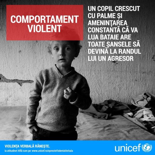 campanie Unicef, UNICEF, copii, violenta verbala