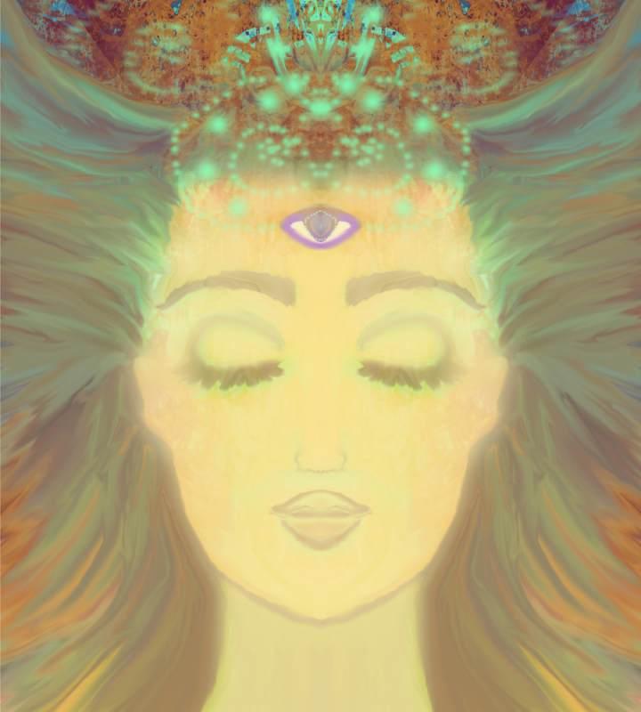 chakra, cel de-al treilea ochi, divin, divinitate