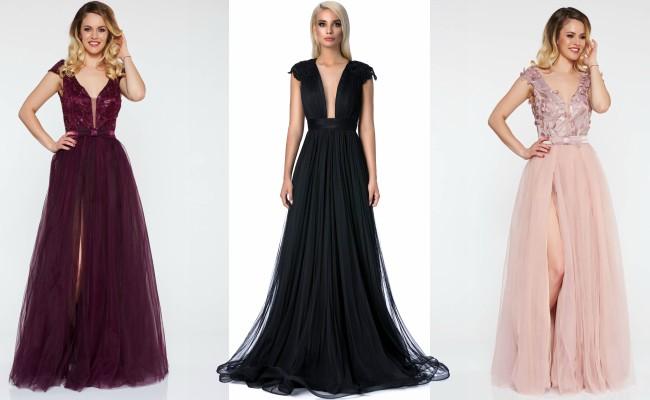 rochie lunga din tul