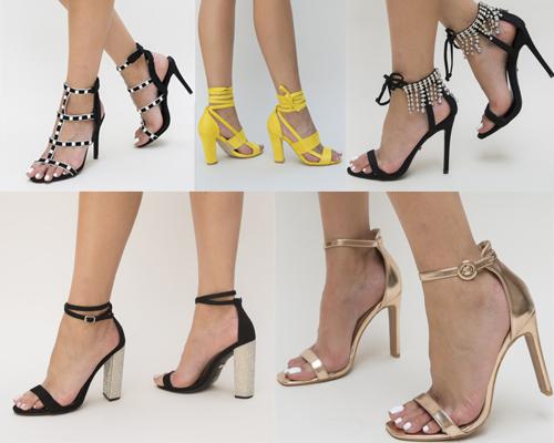 sandale elegante pentru ținuta de Revelion