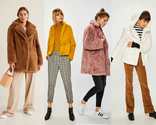 haină de blană plușată