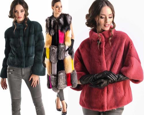 haine de blană naturală de lux