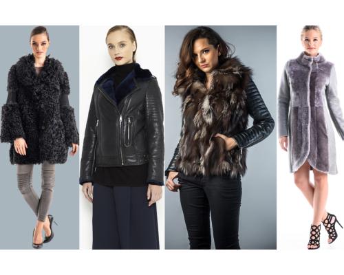 haină de blană naturală de lux