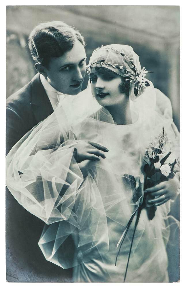 cuplu 1920, mireasa 1920, nunta 1920