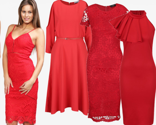 rochii roșii de Valentine Day în ținute de seară