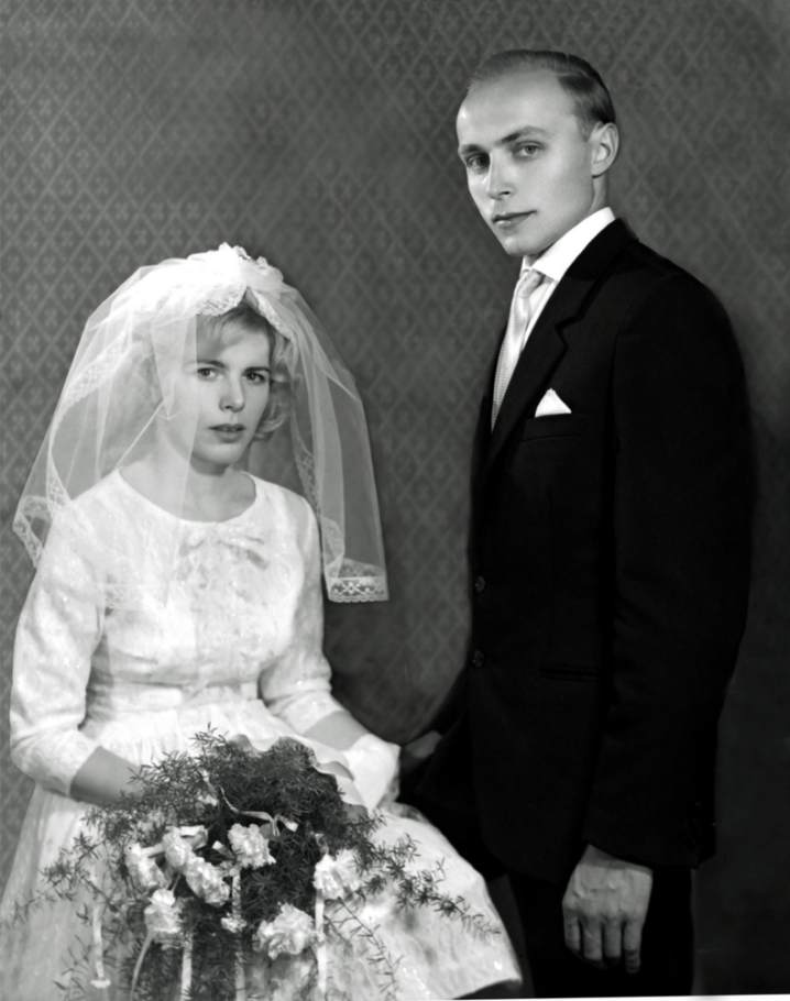 cuplu 1960, rochie de mireasa 1960, foto 1960