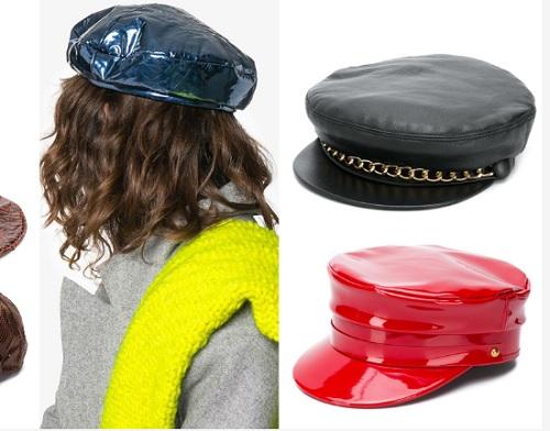 beretă franțuzească din piele eco