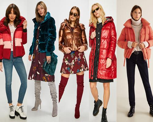jachete colorate de iarnă în texturi interesante