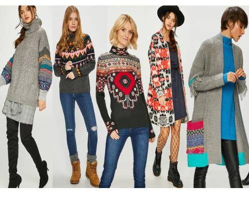 tricotaje cu motive etnice pentru ținute în layere