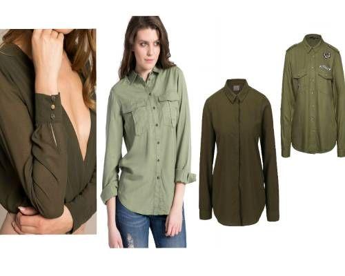 bluze în stil army