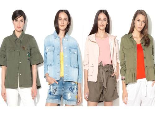 jacheta bufantă de inspirație military Safari