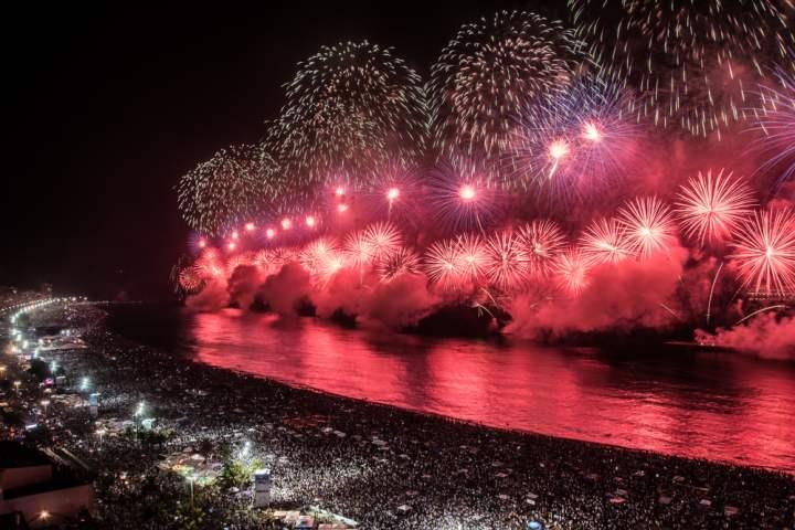 artificii in Rio de Janeiro