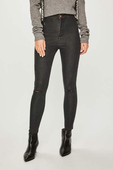 jeansi talie inalta