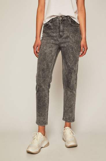 jeansi cu talie inalta