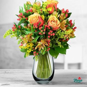 buchet de flori de Valentine's Day