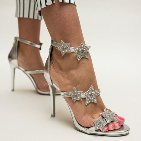sandale argintii elegante