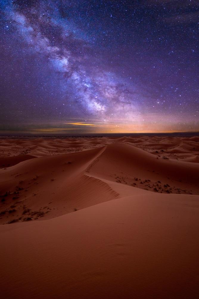stele in desert