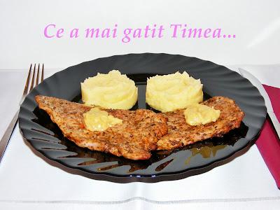 friptura de porc cu sos de mustar