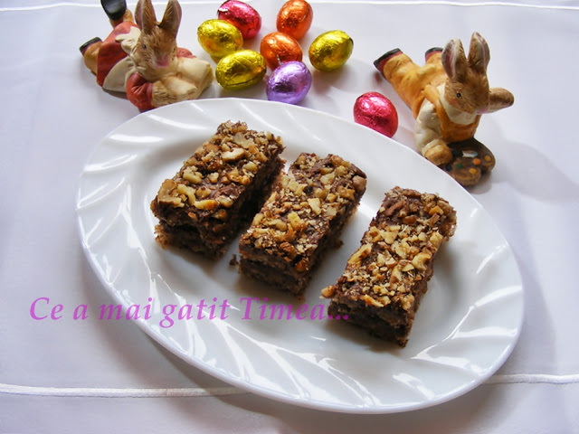 prajitura cu nuca, ciocolata si rom
