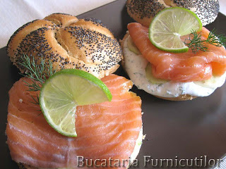 sandwich cu somon