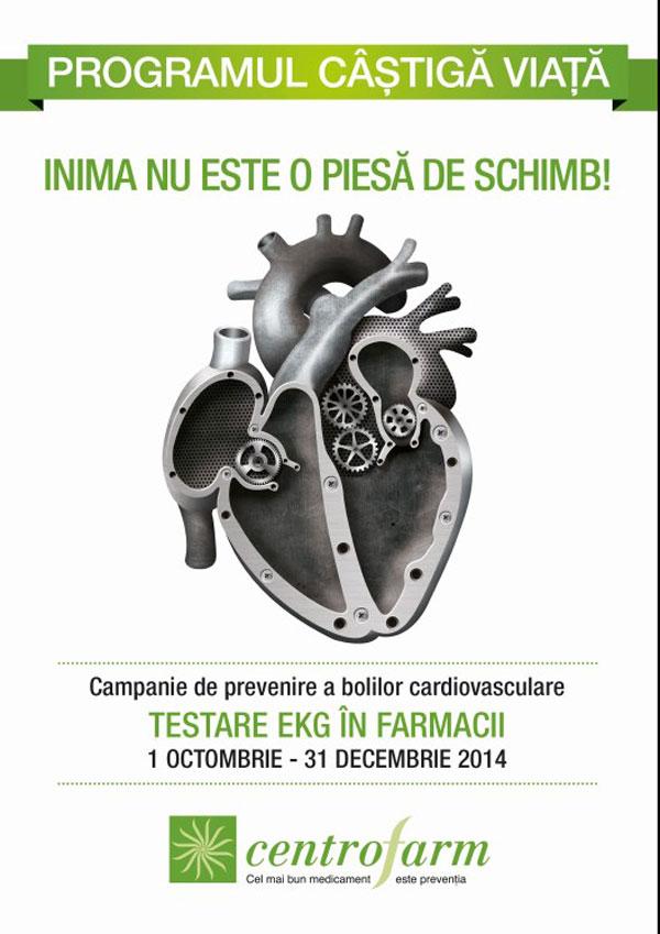 campanie centrofarm prevenire boli cardiovasculare - teste gratuite in farmacii