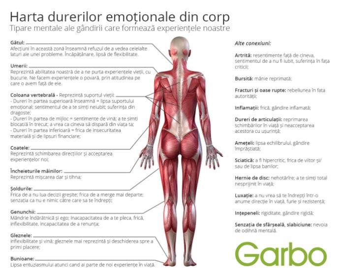Harta DURERILOR EMOTIONALE din corp