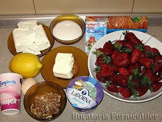 ingrediente cheesecake cu capsuni