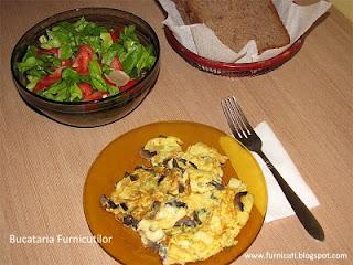 reteta omleta cu ciuperci