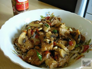 paste de orez cu soia si ciuperci,reteta de post