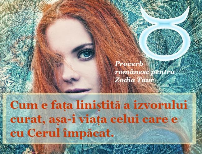 zodia Taur, Taur, proverb, proverb romanesc