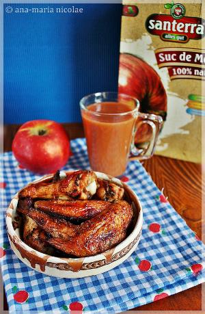 aripioare in marinata de suc de mere
