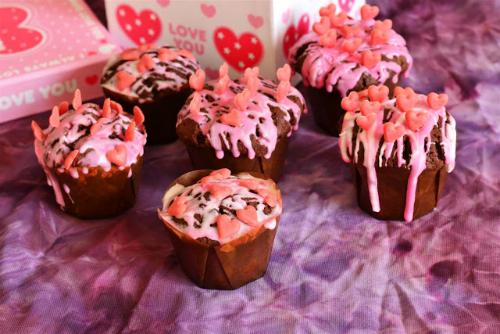 cupcakes cu glazura de ciocolata