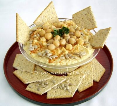 hummus, pasta de naut