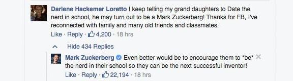 Mesajul feminist al lui Mark Zuckerberg pentru tinerele femei: