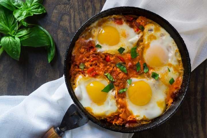 mic dejun israel, shakshouka,