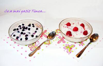 orez cu lapte si fructe de padure