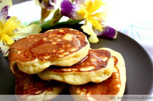 pancakes cu ricotta si portocale