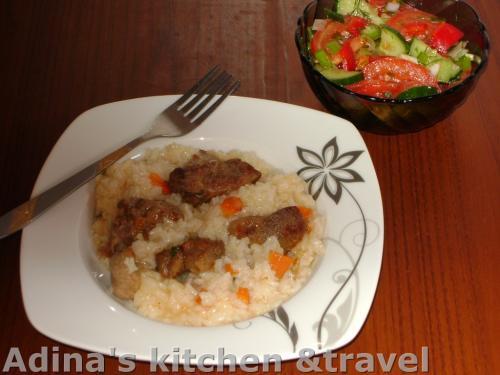 risotto cu carne de porc