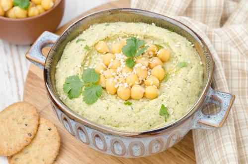 humus cu coriandru si ghimbir