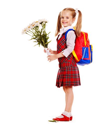 Fetita la scoala