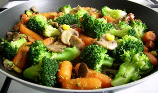 stir fry cu legume