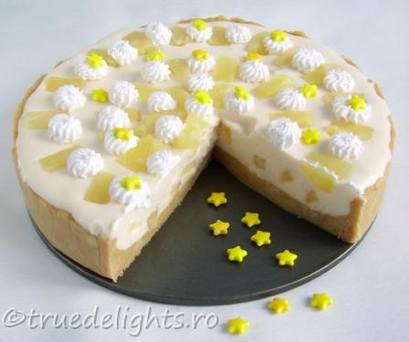 tort cu iaurt si ananas