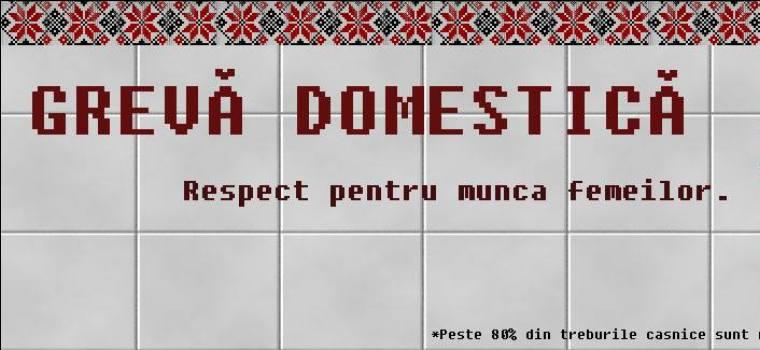 8 martie: Greva domestica. Respect pentru munca femeilor!