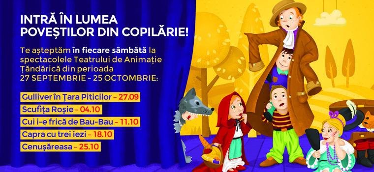 'Gulliver in Tara Piticilor' si 'Scufita Rosie' la Teatrul de Animatie Tandarica